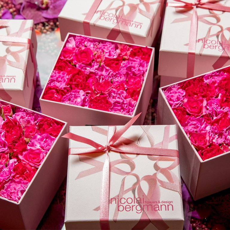 2018 Pink Ribbon Limited Flower Box Arrangemnt